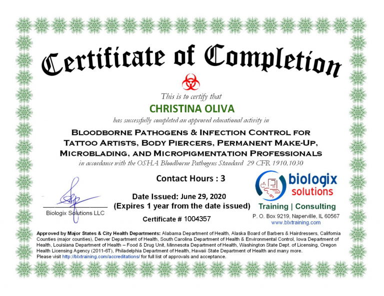 Certificate_For_CHRISTINA OLIVA